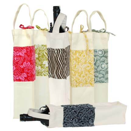 Canvas Wine Gift Bag Connected
