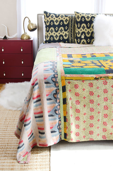 Kantha Quilt Connected